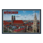 Paisaje urbano de Munich Poster
