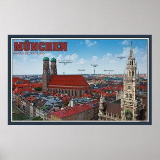 Paisaje urbano de Munich Póster