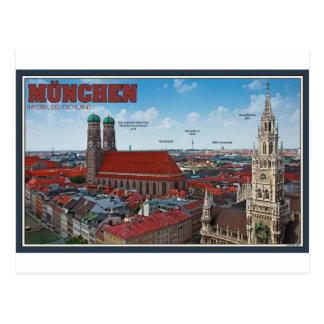 Paisaje urbano de Munich Tarjetas Postales