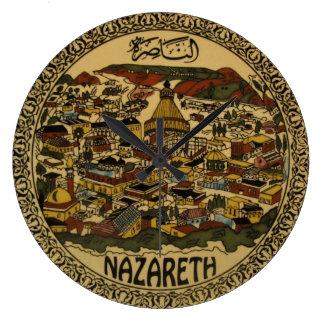Paisaje urbano de Nazaret Reloj De Pared