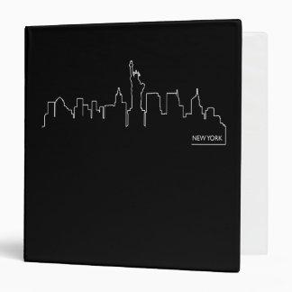 "Paisaje urbano de Nueva York Carpeta 1 1/2"""
