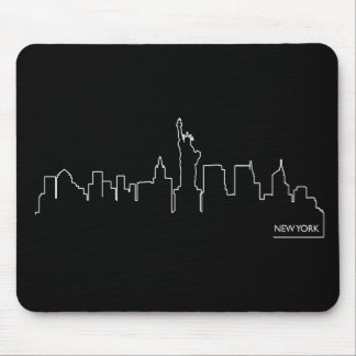 Paisaje urbano de Nueva York Tapetes De Ratón