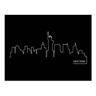 Paisaje urbano de Nueva York Tarjetas Postales