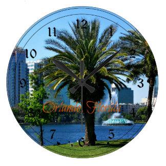 Paisaje urbano de Orlando la Florida Relojes De Pared