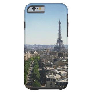 Paisaje urbano de París, Francia Funda De iPhone 6 Tough