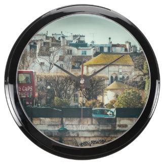 Paisaje urbano de París - vieja fotografía del via Relojes Aquavista