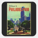 Paisaje urbano de Philadelphia Colcomanias Cuadradas