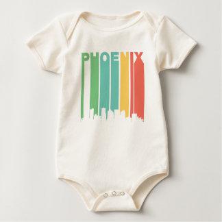 Paisaje urbano de Phoenix del vintage Body Para Bebé