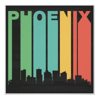 Paisaje urbano de Phoenix del vintage Perfect Poster