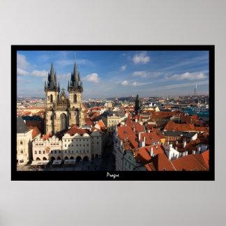 Paisaje urbano de Praga Póster