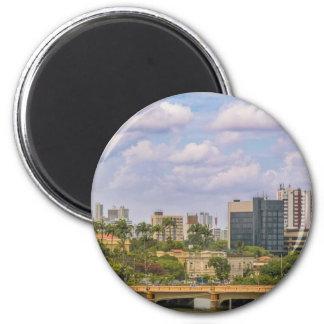Paisaje urbano de Recife, Pernambuco el Brasil Imán Redondo 5 Cm