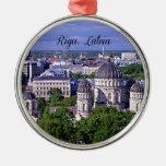 Paisaje urbano de Riga, Letonia Ornamento Para Arbol De Navidad