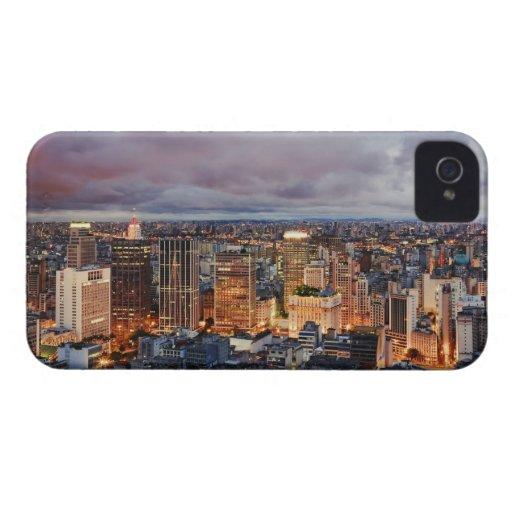 Paisaje urbano de Sao Paulo Carcasa Para iPhone 4