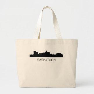 Paisaje urbano de Saskatoon Saskatchewan Bolsa Tela Grande