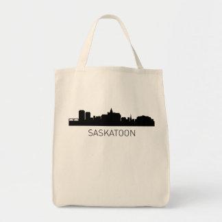 Paisaje urbano de Saskatoon Saskatchewan Bolsa Tela Para La Compra