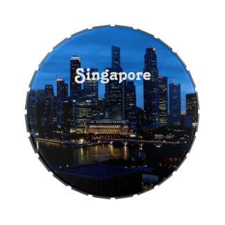 Paisaje urbano de Singapur Frascos De Caramelos