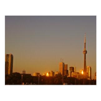 Paisaje urbano de Toronto Tarjeta Postal