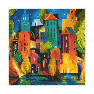 Paisaje urbano de Watertown de Karen Gillis Taylor Impresiones En Lona Estiradas