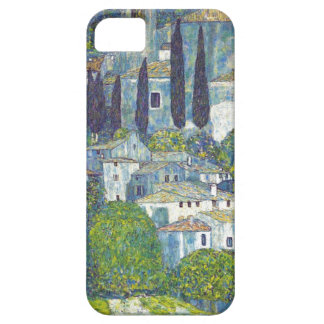 Paisaje urbano del azul de Klimt iPhone 5 Carcasas