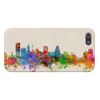 Paisaje urbano del horizonte de Baltimore Maryland iPhone 5 Carcasa