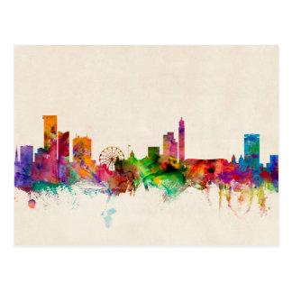 Paisaje urbano del horizonte de Birmingham Tarjetas Postales