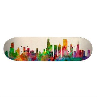 Paisaje urbano del horizonte de Chicago Illinois Patín Personalizado