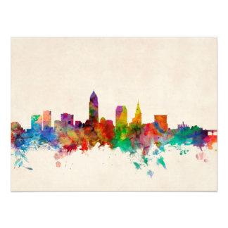 Paisaje urbano del horizonte de Cleveland Ohio Fotografía