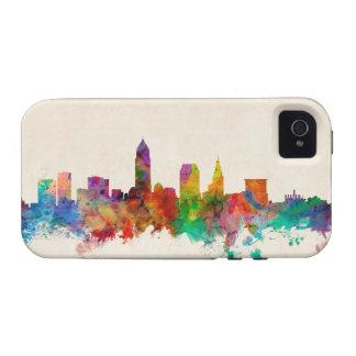 Paisaje urbano del horizonte de Cleveland Ohio Case-Mate iPhone 4 Carcasa