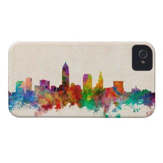 Paisaje urbano del horizonte de Cleveland Ohio iPhone 4 Fundas