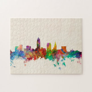 Paisaje urbano del horizonte de Cleveland Ohio Puzzles Con Fotos