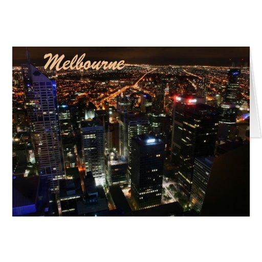 Paisaje urbano del horizonte de Melbourne Victoria Tarjeta De Felicitación