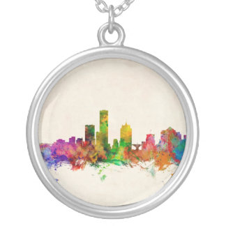 Paisaje urbano del horizonte de Milwaukee Wisconsi Joyeria Personalizada