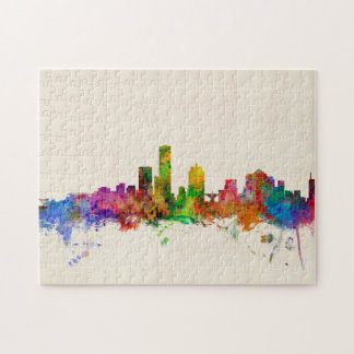 Paisaje urbano del horizonte de Milwaukee Wisconsi Puzzle Con Fotos