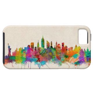 Paisaje urbano del horizonte de New York City iPhone 5 Case-Mate Cobertura