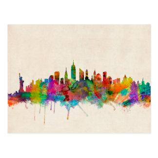 Paisaje urbano del horizonte de New York City Postales