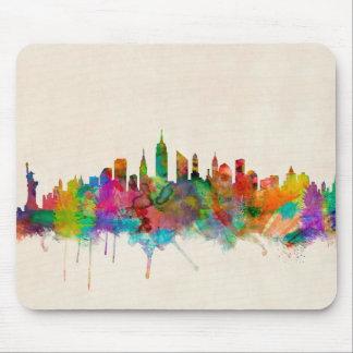 Paisaje urbano del horizonte de New York City Tapete De Raton