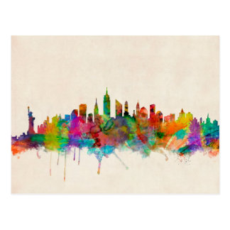Paisaje urbano del horizonte de New York City Postal