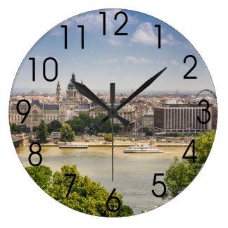 Paisaje urbano del verano de Budapest, foto del Relojes De Pared
