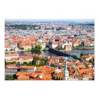 Paisaje urbano en Praga Cojinete