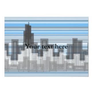Paisaje urbano moderno anuncio personalizado