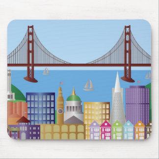 Paisaje urbano Mousepad de San Francisco Alfombrilla De Ratones