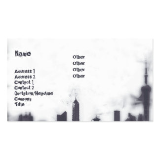 Paisaje urbano - negocio plantillas de tarjetas de visita
