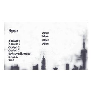 Paisaje urbano - negocio tarjeta de visita