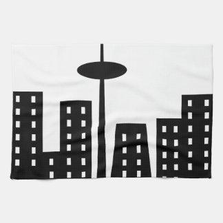 Paisaje urbano toallas de cocina