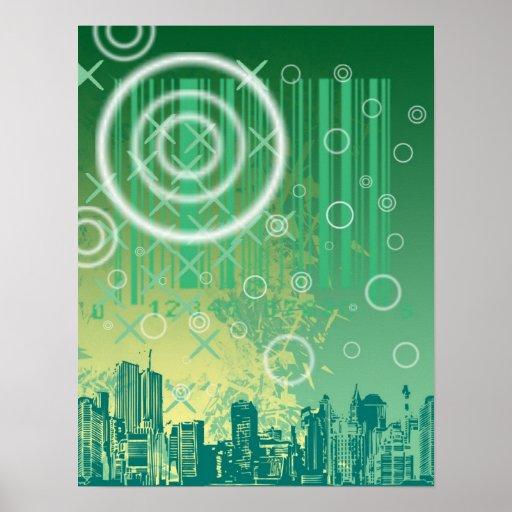 Paisaje urbano poster