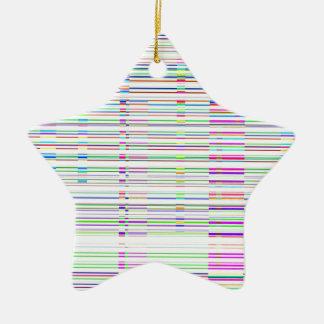 Paisaje urbano reconstruido adorno navideño de cerámica en forma de estrella