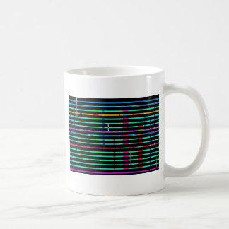 Paisaje urbano reconstruido taza de café