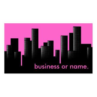 paisaje urbano rosado plantilla de tarjeta de visita