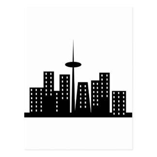 Paisaje urbano tarjetas postales
