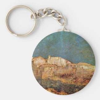 Paisaje veneciano de Odilon Redon Llavero Redondo Tipo Pin